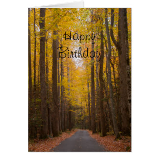 Journey Themed Nature Birthday Card