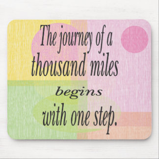Journey Thousand Miles Mouse Pad