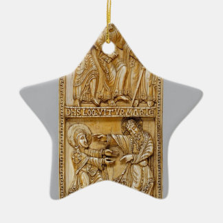 Journey to Emmaus and Noli Me Tangere Ceramic Star Decoration
