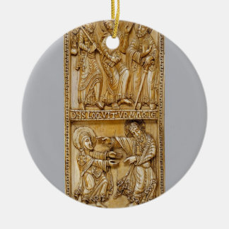Journey to Emmaus and Noli Me Tangere Round Ceramic Decoration