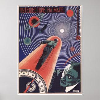 Journey to Mars by Prusakov 1926 Soviet Movie Poster