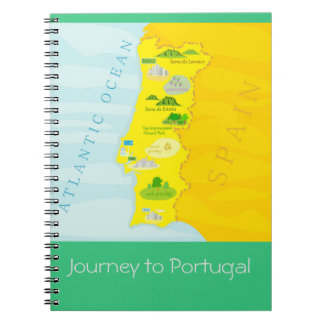Journey to Portugal - notepad Spiral Notebook
