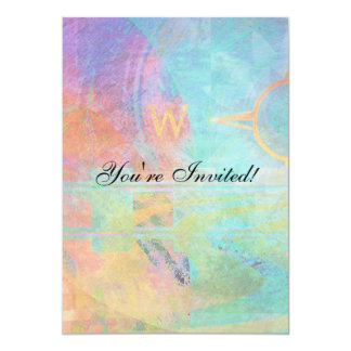 Journeys - Abstract Travel 5x7 Paper Invitation Card