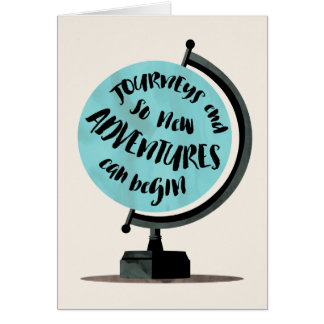Journeys and Adventures World Globe Card