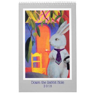 Journeys With the White Rabbit 2018 Calendar