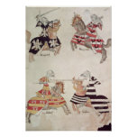 Jousting Knights, from Sir Thomas Holmes' Book Poster