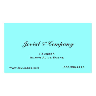 Jovial & Company Business Card Template