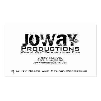 JoWaY Productions Business Card