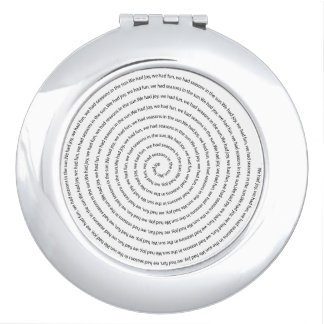 Joy and Fun Swirl Compact Mirror