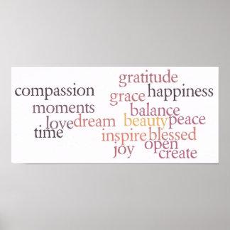Joy and Gratitude Poster