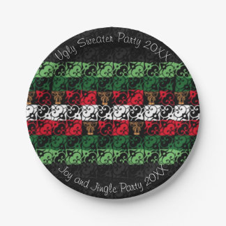 """Joy and Jingle Ugly Sweater Party 7"""" Paper Plates"""