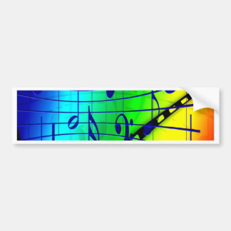 Joy and music treble clef sound concert musician bumper sticker