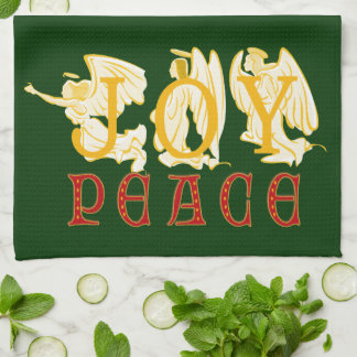 Joy And Peace Angels Kitchen Towel