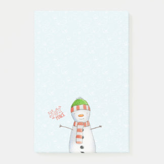 Joy and Peace | Cute Snowman Christmas Post-it Notes