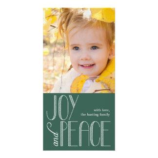 Joy and Peace Holiday Photo Card