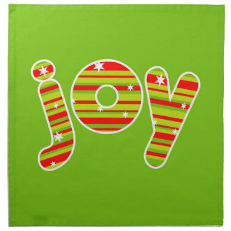 JOY at Christmas, Red & Green Stripes Napkin