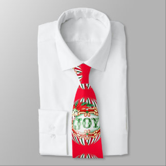 JOY BALL CHRISTMAS CARTOON Neck Tie