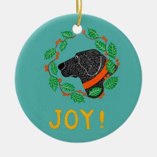 Joy Black Lab Ornament By Stephen Huneck