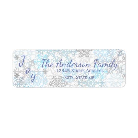 Joy Blue/White Snowflakes - Address Labels