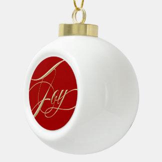 Joy Ceramic Tree Ornament