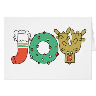 JOY (Christmas) - A7 (Landscape) Card