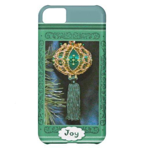 Joy, Christmas bauble, turquoise iPhone 5C Cases