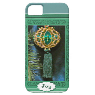 Joy, Christmas bauble, turquoise iPhone 5 Covers