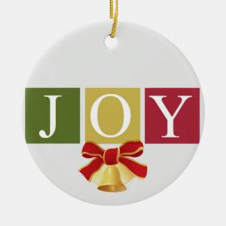 Joy Christmas Bell Ornament