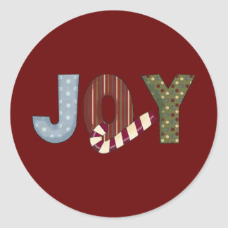 Joy ~Christmas ~ Classic Round Sticker