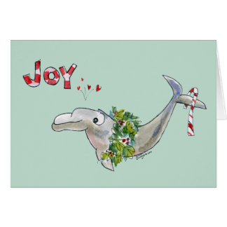 Joy Christmas Dolphin Porpoise of Life Green Card