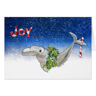 Joy Christmas Dolphin Porpoise of Life Stars Card