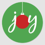 Joy Christmas Ornament Stickers