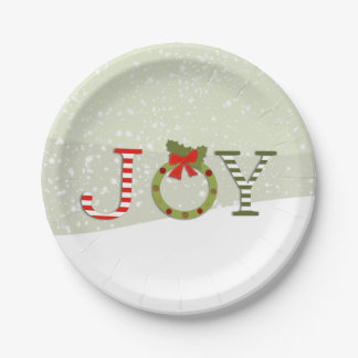 Joy - Christmas Paper Plate