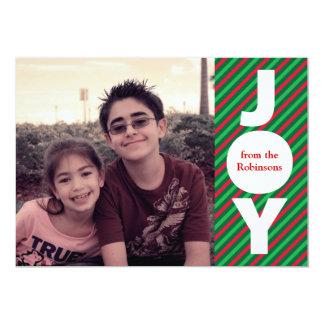 Joy Christmas Photo Card 13 Cm X 18 Cm Invitation Card