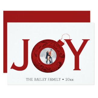 Joy Christmas Photo Modern Holiday Greeting Card