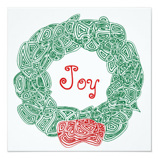 Joy Christmas Wreath Card