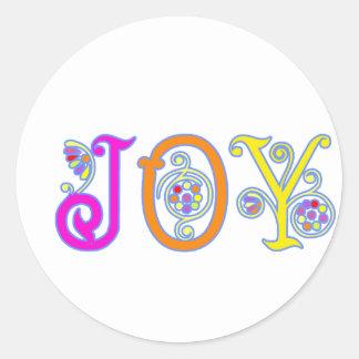JOY! CLASSIC ROUND STICKER
