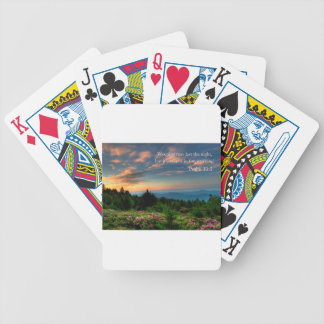 joy comes in the morning bicycle playing cards