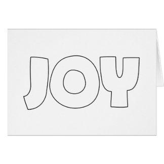 JOY (Create Your Own) - A7 (Landscape) Card
