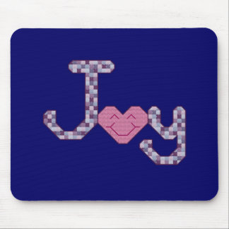Joy Cross Stitch Mouse Pad