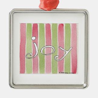 Joy Silver-Colored Square Decoration