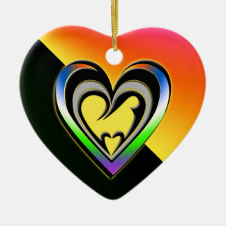 Joy Ceramic Heart Decoration