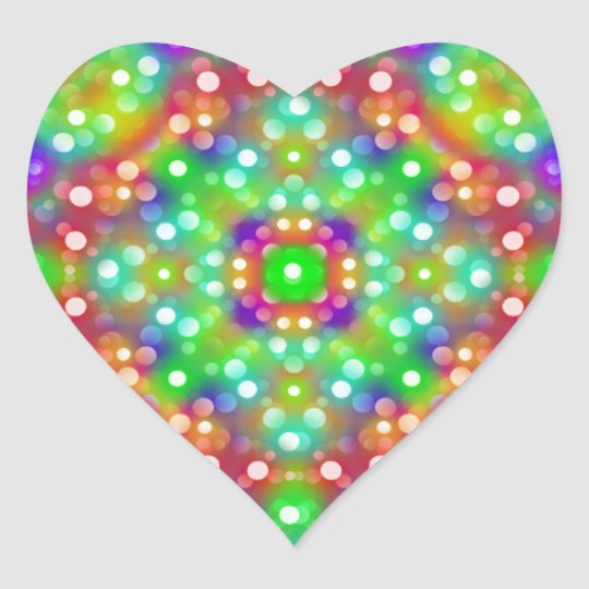 Joy Expression Mandala Heart Sticker
