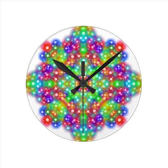 Joy Expression Mandala Round Clock