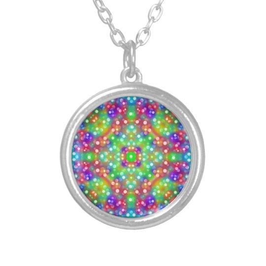 Joy Expression Mandala Silver Plated Necklace
