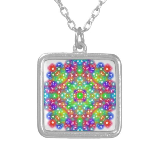 Joy Expression Mandala Silver Plated Necklace