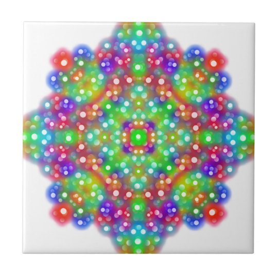 Joy Expression Mandala Small Square Tile