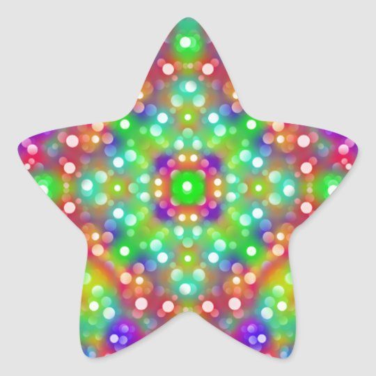 Joy Expression Mandala Star Sticker