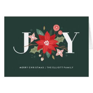 Joy Flourish Greeting Card - Pine
