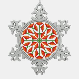 Joy Flower 267 Pewter Snowflake Decoration